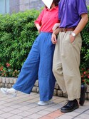 みぃこ(´・×・`)さんの「Polo Ralph Lauren - ロゴ刺繍 ポロシャツ - men - コットン - L(Polo Ralph Lauren|ジーユー)」を使ったコーディネート