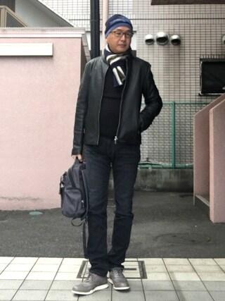 「ラムレザーシングルライダース(UNITED TOKYO)」 using this HiRo looks