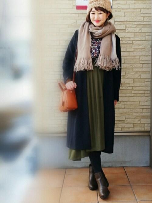 【archives公認】ominagoさんのシャツ/ブラウス「フレア袖ギャザーVネックブラウス(archives|アルシーヴ)」を使ったコーディネート