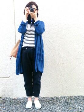 SIMAさんの(BLUE BLUE JAPAN|ブルーブルージャパン)を使ったコーディネート