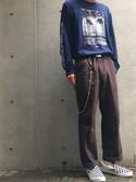 横川 is wearing STUSSY