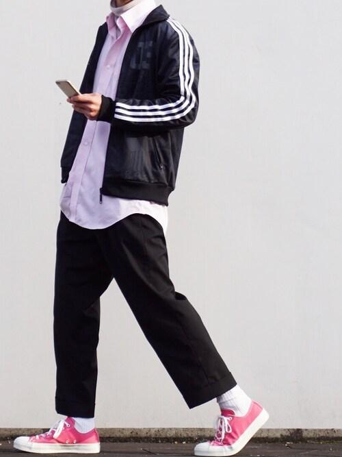 K@zukiさんの「オリジナルス トラックトップジャージ[3FOIL TT STREET](adidas)」を使ったコーディネート