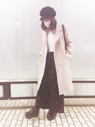 前田希美さんの「「YOSUKE/ヨースケ」アツゾコレースアップスニーカー(YOSUKE ヨースケ)」を使ったコーディネート