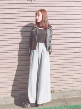 前田希美さんの(YOSUKE|ヨースケ)を使ったコーディネート