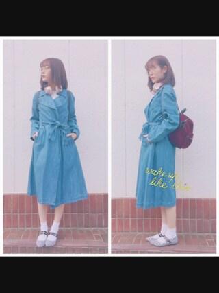 「デニムトレンチコート◆(REDYAZEL)」 using this 前田希美 looks