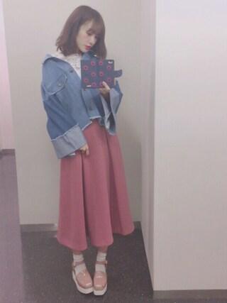 「リメイク風デニムジャケット(REDYAZEL)」 using this 前田希美 looks