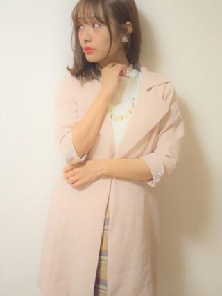 「チェック二重織りスカート(REDYAZEL)」 using this 前田希美 looks