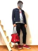 """goooomes is wearing Levi's """"510(TM) スキニーフィット ブラック NIGHTSHINE/11.68oz"""""""