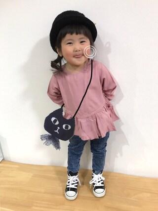 himariさんの「キッズ コンバース オールスター ハイカット CONVERSE CHILD ALL STAR RZ HI 325136(CONVERSE|コンバース)」を使ったコーディネート
