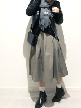miさんの「レザーライダースジャケット(TODAYFUL トゥデイフル)」を使ったコーディネート