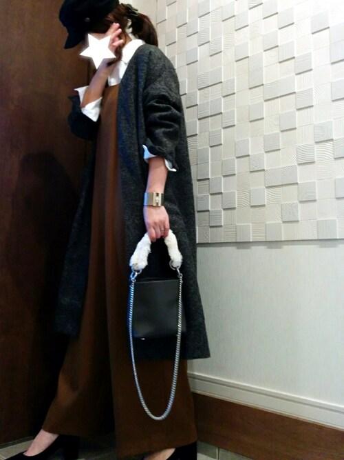 nogmogさんの「起毛ツイルオーバーサロペット(LE JUN WOMEN(ル ジュンウィメン))」を使ったコーディネート