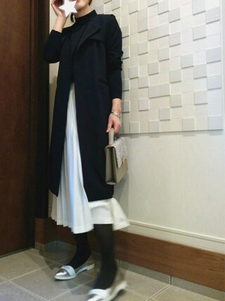 nogmogさんの「サテンプリーツスカート(studio CLIP|スタディオクリップ)」を使ったコーディネート