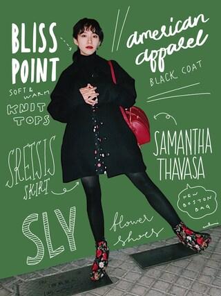 「【雑誌掲載】 ミランダデイリー (ボストンBAG大)【3年保証対象】(Samantha Thavasa)」 using this 中田クルミ looks