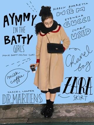 「MOVIE PARTY メルトンコート(Aymmy in the batty girls)」 using this 中田クルミ looks