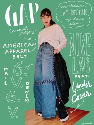 「LACE UP WIDE LEG JEANS(G.V.G.V.)」 using this 中田クルミ looks