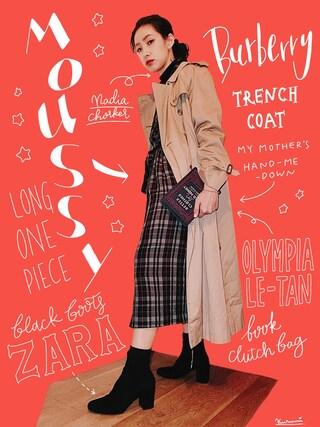 「CHECK SH DRESS(MOUSSY)」 using this 中田クルミ looks