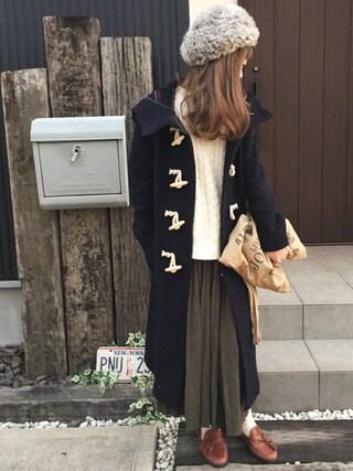 「【Casual】ロング丈ダッフルコート(Ungrid)」 using this 清水夏姫 looks