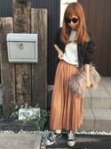 清水夏姫さんの「ASHLEY EYE WEAR(SLY|スライ)」を使ったコーディネート
