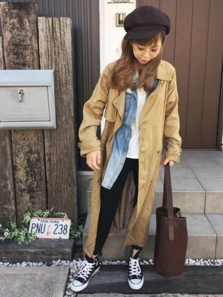 「リメイクデニムシャツ(TODAYFUL)」 using this 清水夏姫 looks