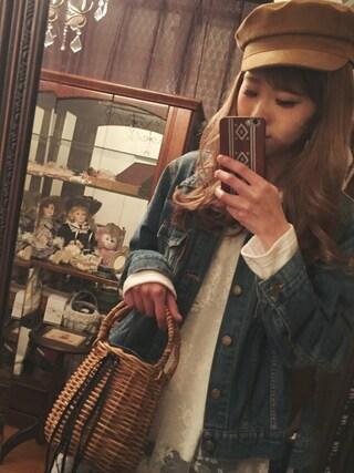 清水夏姫さんの「【men's like】ポケットセルビッチGジャン(Ungrid|アングリッド)」を使ったコーディネート