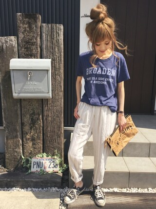 「CONVERSE / CVS ALL STAR OX(CONVERSE)」 using this 清水夏姫 looks