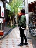 Junさんの「<断トツ人気No.1>ハイストレッチスキニーパンツ/724845(RAGEBLUE レイジブルー)」を使ったコーディネート
