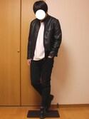Junさんの「PUレザーシングルライダース(ZIP FIVE|ジップファイブ)」を使ったコーディネート
