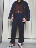 「【Ciaopanic】×【WRANGLER/ラングラー】別注 デニムテーパードパンツ(Wrangler)」 using this KAEDE looks