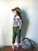 nanaさんの「FILT社のネットバッグ ホワイト /  Filt Net Bag 220(TODAY'S SPECIAL トゥデイズスペシャル)」を使ったコーディネート