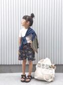 nanaさんの「【KIDS】フラッシュバックウィンドブレーカーフルジップ(Columbia)」を使ったコーディネート