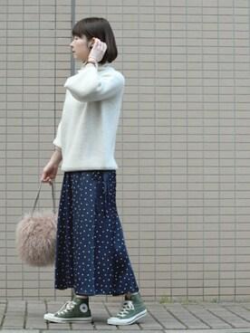 *kumiko*さんの「ファーチェーンバッグ(TODAYFUL|トゥデイフル)」を使ったコーディネート