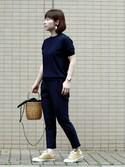 *kumiko*さんの「ALL STAR 100 WORKFABRIC OX/オールスター 100 ワークファブリック OX(CONVERSE|コンバース)」を使ったコーディネート