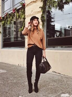 「rag & bone/JEAN 10 Inch Skinny Jeans, Washed Black(Rag & Bone)」 using this Bethany Marie looks