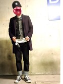 hoolywoodさんの「KURO / クロ 417ベッチュウ EN.TOE ONEWASH DENIM(KURO クロ)」を使ったコーディネート