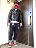 hoolywoodさんの「◇KURO / クロ 417ベッチュウ EN.TOE ONEWASH DENIM(KURO|クロ)」を使ったコーディネート