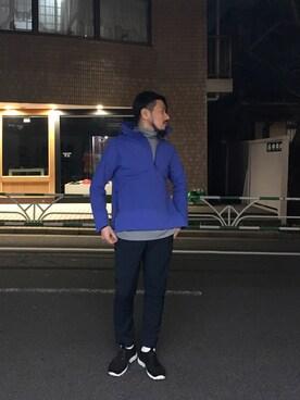 DESCENTE BLANC MARUNOUCHI|MASATOSHIKOMORIさんのナイロンジャケット「パラヘムシェルジャケット / PARAHEM SHELL JACKET(DESCENTE ALLTERRAIN|デサント オルテライン)」を使ったコーディネート
