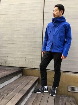 DESCENTE BLANC MARUNOUCHI|MASATOSHIKOMORIさんのナイロンジャケット「ストリームライン ボアシェルジャケット / STREAMLINE BOA SHELL JACKET(DESCENTE ALLTERRAIN|デサント オルテライン)」を使ったコーディネート