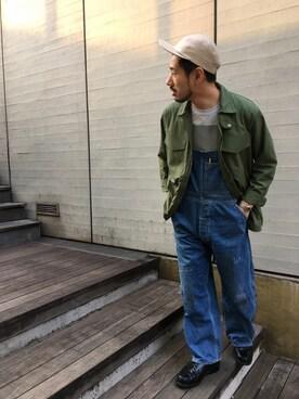 DESCENTE BLANC MARUNOUCHI|MASATOSHIKOMORIさんのその他アウター「フィールドジャケット /FIELD JACKET (DESCENTE|デサント)」を使ったコーディネート