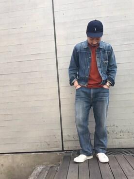DESCENTE BLANC MARUNOUCHI|MASATOSHIKOMORIさんのTシャツ/カットソー「ビッグTシャツ / BIG T-SHIRT(DESCENTE|デサント)」を使ったコーディネート