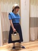 ヒヤマ ミユキさんの「綿麻マリンカットソー(Samansa Mos2)」を使ったコーディネート
