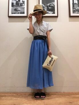 SHOO・LA・RUE|Ayumiさんの「リボン付きMIXブレードハット(DRESKIP)」を使ったコーディネート