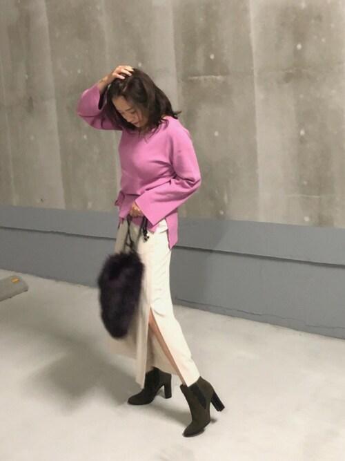 566cace51f0e2 A☆mom LAGUNAMOONのニット セーターを使ったコーディネート - WEAR
