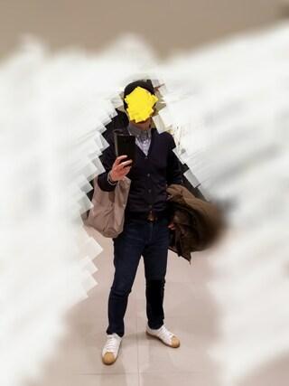 Ossanさんの「MEN プレミアムリネンチェックシャツ(長袖)(ユニクロ|ユニクロ)」を使ったコーディネート