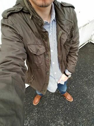 Ossanさんの「ミリタリージャケット(no brand|ノーブランド)」を使ったコーディネート