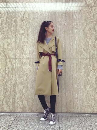 「Flare York Trench CT(PEGGY LANA)」 using this 秦まり子 looks