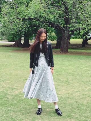 「beautiful people×MIDWEST 【別注】ライダースジャケット(beautiful people)」 using this 秦まり子 looks