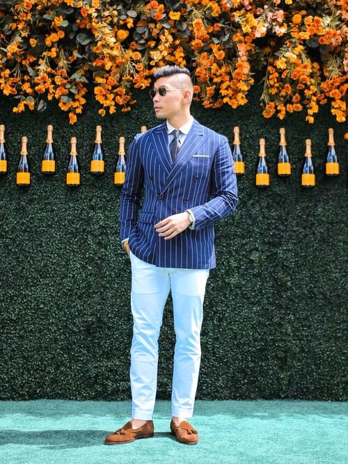 「Ralph Lauren The RL Blazer in Cashmere(RALPH LAUREN)」 using this Levitate Style looks