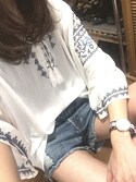 yukii*さんの「ヨウリュウシシュウチュニック/757548(JEANASIS|ジーナシス)」を使ったコーディネート