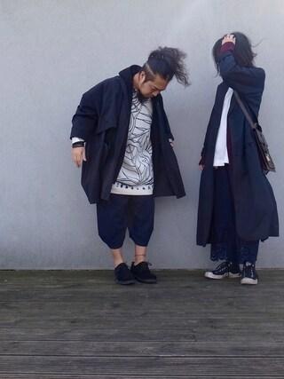 「MEN スウェットフルジップパーカ(長袖)(ユニクロ)」 using this しょいらす looks
