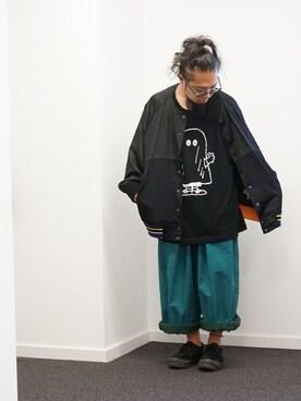 """しょいらす is wearing UNIQLO """"カウズ×ピーナッツグラフィックT(半袖)"""""""